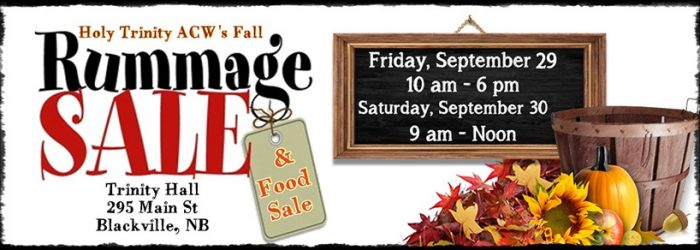 Holy Trinity ACW Hosting Fall Rummage & Food Sale
