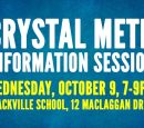 CRYSTAL METH INFORMATION SESSION TO BE HELD AT BLACKVILLE SCHOOL